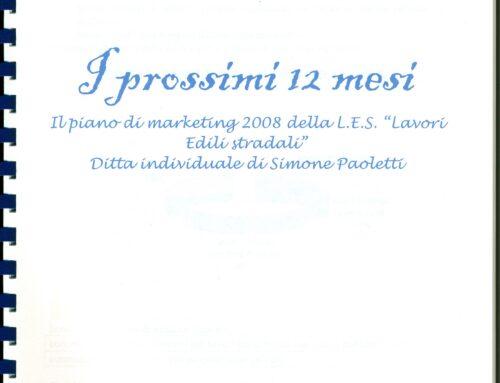 Piano industriale e Piano di marketing. Prof Carlini