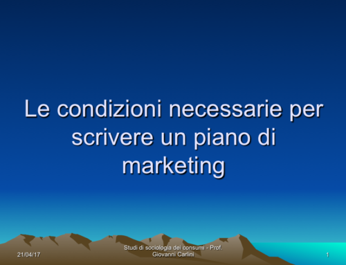Il marketing in pillole – quinta puntata