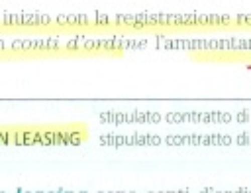Ragioneria – Approfondimenti sui beni in leasing. Prof Carlini