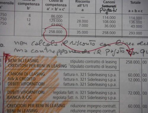 Maxicanone per leasing/5. Appunti del prof Carlini