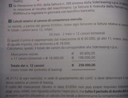 Maxicanone nel leasing/3. Appunti del Prof. Carlini