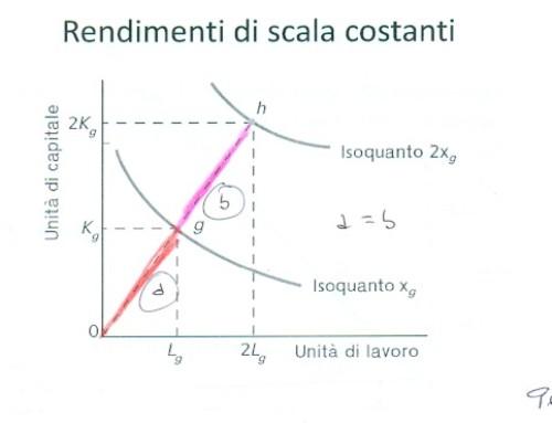 Diseconomie ed economie di scala. Prof Carlini