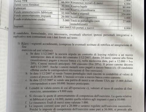 Leasing scritture contabili. Prof Carlini