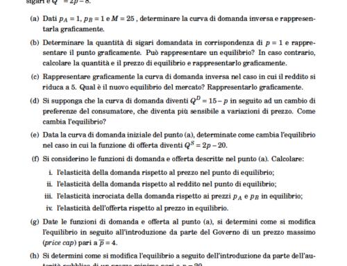 Micro esercizio elaborato. Prof Carlini