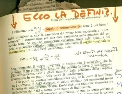 Saggio marginale di sostituzione 2. Prof Carlini