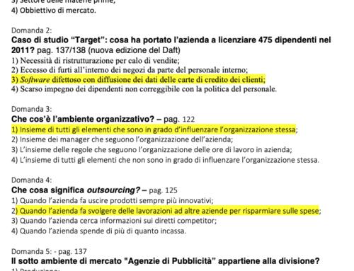 Parziale di Org. Az. Test. Prof Carlini