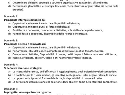 Organizzazione aziendale esame. Prof Carlini