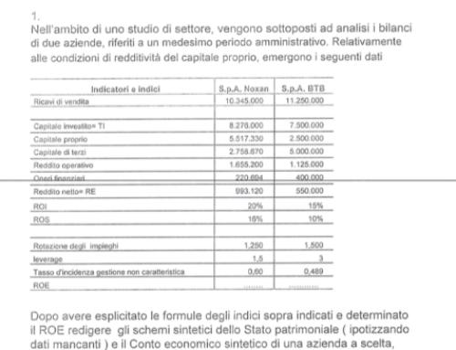 Altro esercizio di bilancio con dati a scelta. Prof Carlini