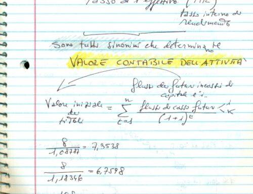 Inutilità del costo ammortizzato3. Prof Carlini