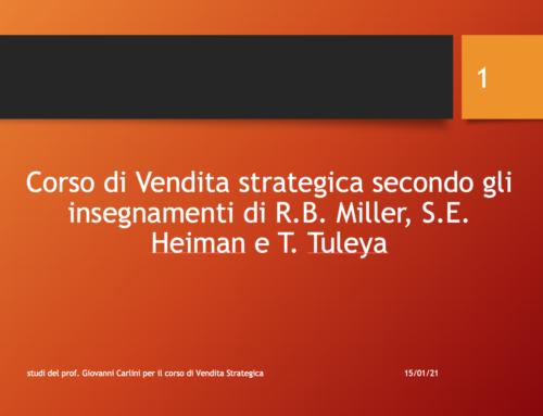 Vendita strategica slide del Prof Carlini